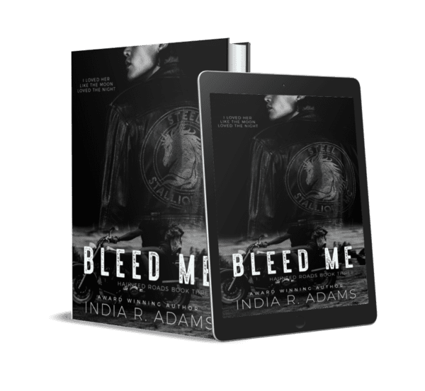 Bleed me novel cover by india r adams dark visionary fiction